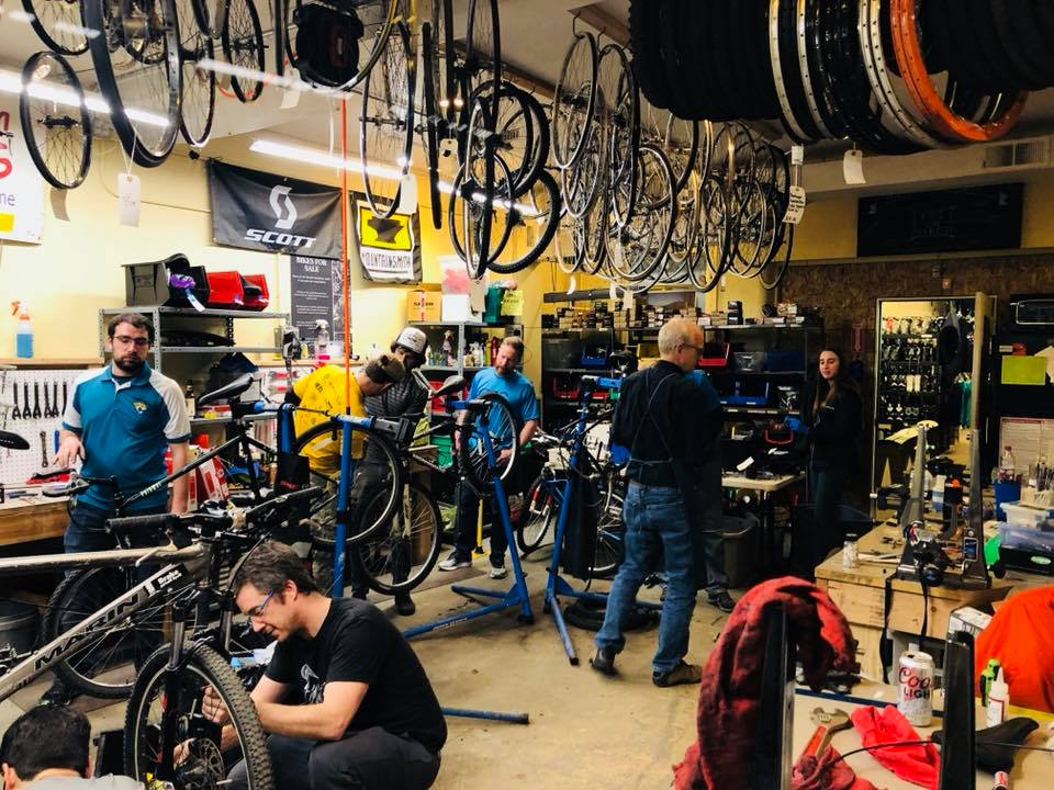 COS Racing turns wrenches at Kids on Bikes
